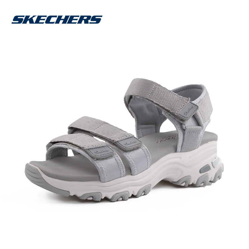 ¥179 Skechers 女鞋厚底 凉鞋