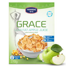 HANNRAE 亨利 乌克兰进口 低脂苹果汁玉米片 270g *10件 99元(合9.9元/件)