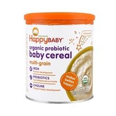 【7.7折 再9.5折】包邮包税!Happy Baby 有机益生菌婴儿米粉 多种谷物 198g