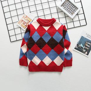 儿童加绒加厚毛衣套头针织打底衫 ¥30