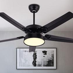 飞稳 北欧风扇吊灯 黑色铁5叶 48寸三色变光+遥控 468元包邮(下单立减) ¥468