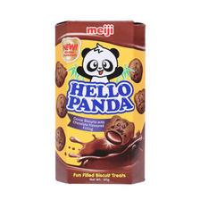 明治(meiji) 熊猫双重巧克力 夹心饼干 50g *2件 8.9元(合4.45元/件)