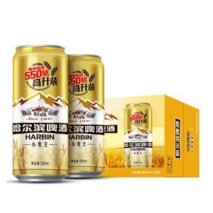 哈尔滨啤酒 小麦王 550ml*20听*2件 64.9元包邮 11点前送冰醇330*24听罐