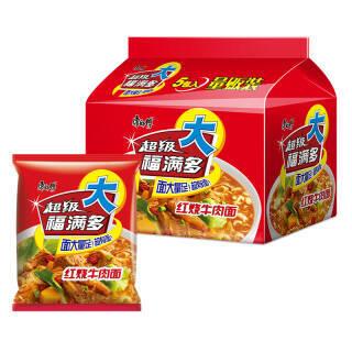 Tingyi 康师傅 超级福满多 红烧牛肉面 五连包 7.5元