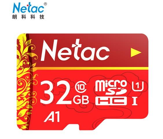 ¥19.9 Netac 朗科 32GB Class10 TF内存卡 中国红