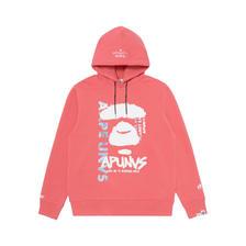 【预售】Aape 幻彩字母涂鸦效果猿颜连帽加绒卫衣 优惠价779元