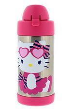 ¥108.87 Thermos FUNtainer 真空保温不锈钢儿童饮具瓶带吸管,10 盎司 - 无味,无