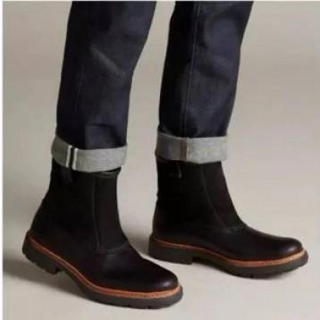 42码,Clarks 其乐 Trace Top 男士拼皮中筒短靴 2.4折 直邮中国 ¥318.04