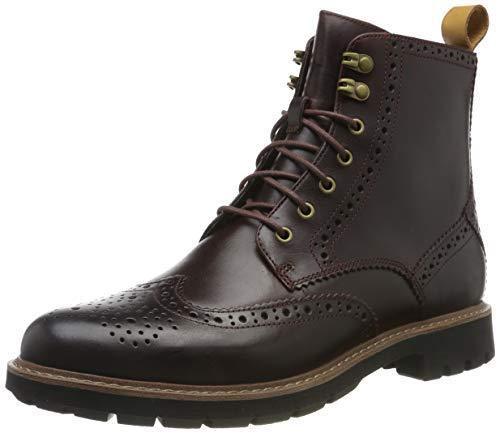 ¥337.34 中亚Prime会员、限尺码: Clarks Batcombe Lord 男士布洛克短靴