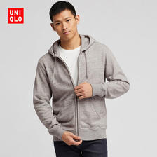¥149 UNIQLO 优衣库 连帽拉链运动开衫