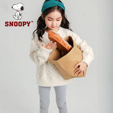SNOOPY 史努比 2019春秋款女童仿貂绒套头针织衫 3色69元包邮(需领券)