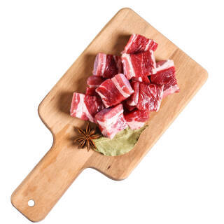 伊赛 巴西进口牛腩块 500g 24.4元