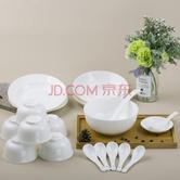 ¥84.5 PLUS:SKYTOP斯凯绨 餐具套装陶瓷骨瓷碗盘碟纯白中式20头*2 169
