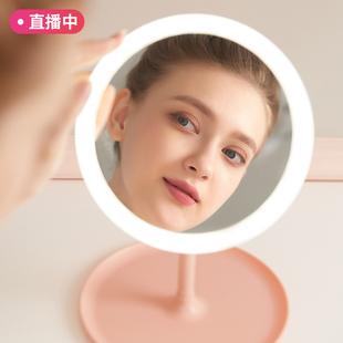 带LED补光灯智能折叠收纳化妆镜 ¥8