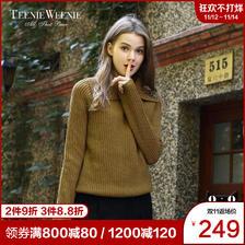 ¥249 Teenie Weenie小熊女装休闲套头针织衫毛衣TTKW74V07B