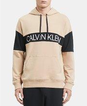 折合214.99元 Calvin Klein 拼接男士连帽卫衣'