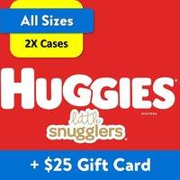 2箱送$25礼卡 Huggies 婴儿纸尿裤超大箱热卖,Little Movers也有