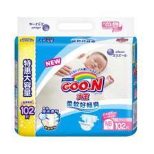 京东PLUS会员:GOO.N 大王 维E系列 婴儿纸尿裤 NB号 102片 63.6元(需用券) ¥64