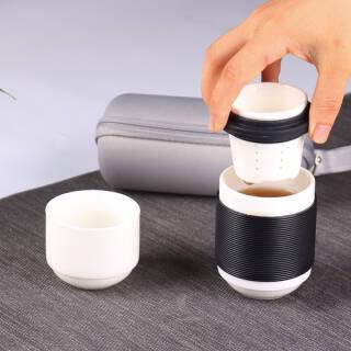 米良品 旅游茶具套装 一壶二杯  券后59元