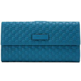古驰(GUCCI) 女士蓝绿色牛皮压纹钱包 449393 BMJ1G 4618 1740元