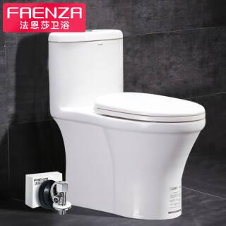 法恩莎(FAENZA) FB1698 M 卫浴坐便器喷射虹吸式家用座便器节水防臭缓降静音抽水马桶 939元