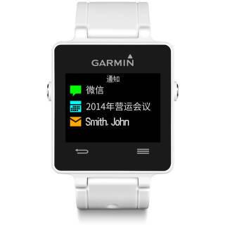 佳明(GARMIN)vivoactive GPS定位智能运动8mm超薄手表跑步骑行游泳来电提醒运动睡眠监测50米防水 白色 479元