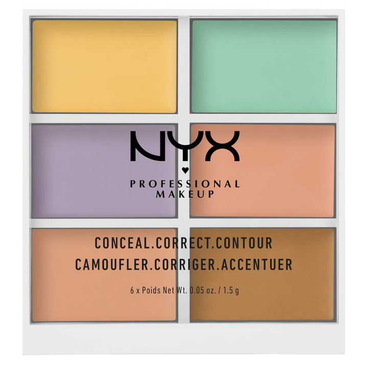 凑单品: NYX Professional Makeup 6色修容遮瑕盘 £8.41