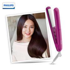 飞利浦(PHILIPS)电卷发棒卷直两用 夹板卷发器迷你型 角蛋白涂层 适用粗硬