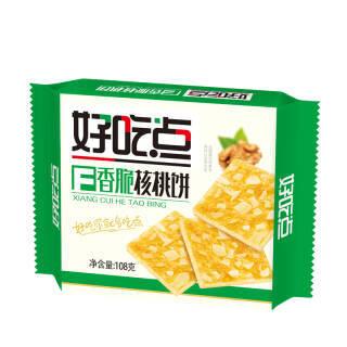 好吃点香脆核桃饼 营养早餐零食面包饼干蛋糕 108g(新老包装随机发货) 2.7元