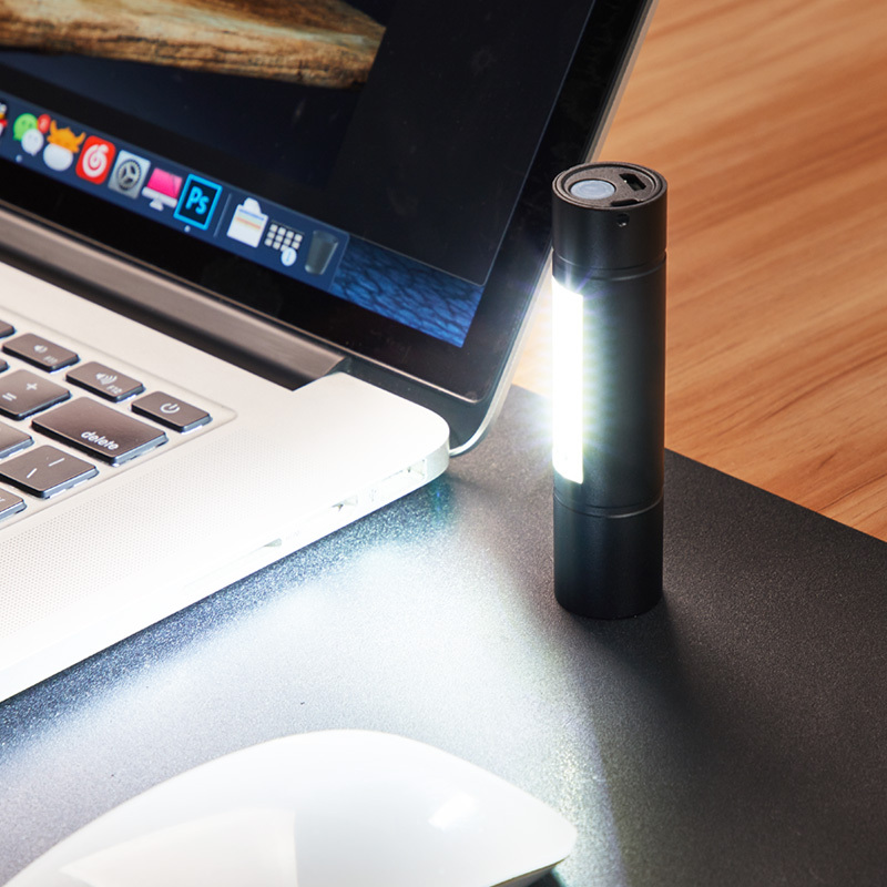 神鱼 强光手电筒 双灯变焦 8W 6.8元