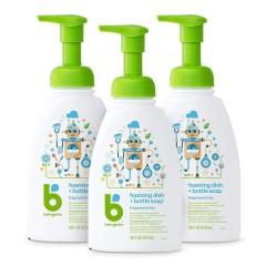 【中亚Prime会员】BabyGanics 甘尼克宝宝 奶瓶餐具果蔬清洗剂 无香型 473ml *3瓶