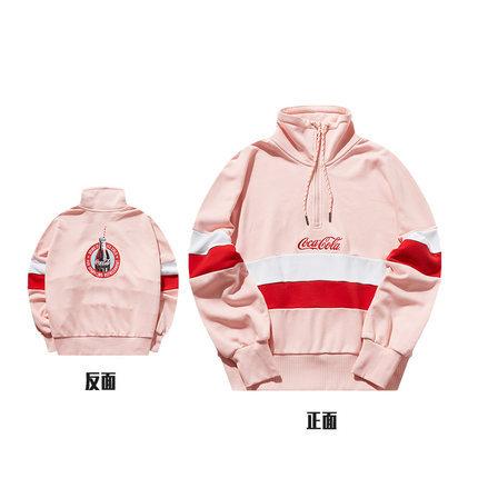 ¥149 安踏卫衣女2019新款秋冬可口可乐联名宽松套头卫衣
