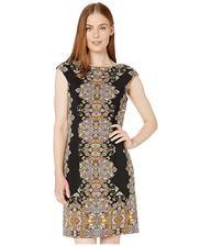 折合279.23元 London Times Jewel Box Cap Sleeve Crepe 女装连衣裙