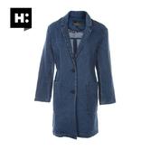 H:CONNECT10183098 女士中长款长袖牛仔外套 32.5元包邮
