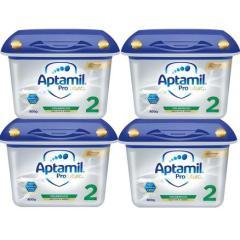 【免邮套装】Aptamil 爱他美白金版婴儿配方奶粉 2段 6月 800g*4盒