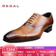 REGAL/丽格商务正装日本制男鞋德比正装鞋男士皮鞋W21D BR(褐色) 43 1571元