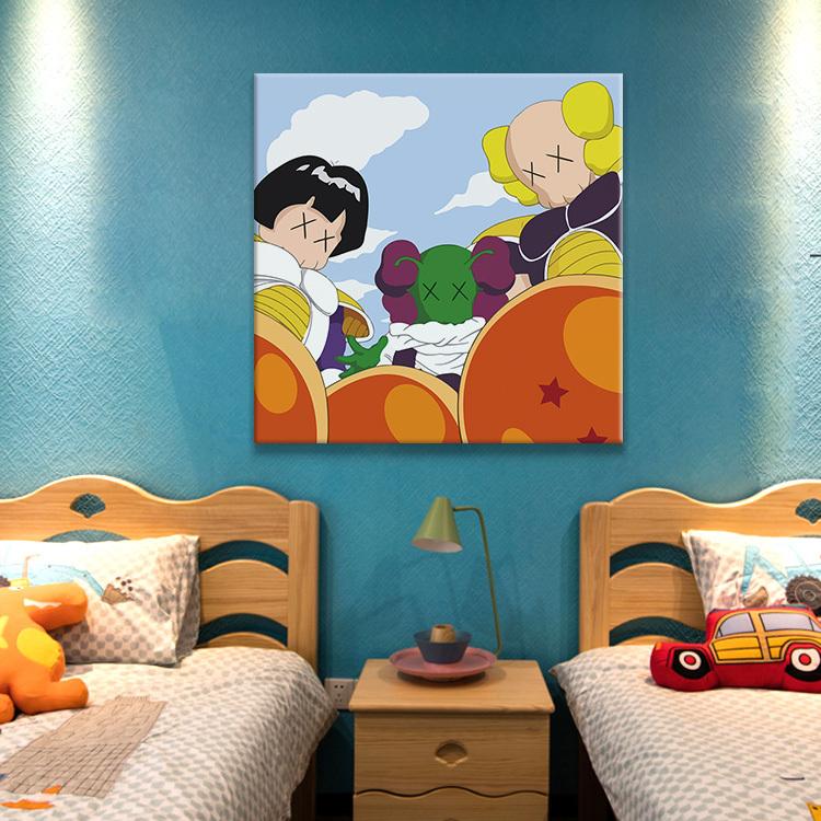 百特好kaws挂画动漫卡通卧室床头墙壁装饰画创意艺术房间壁画 71.2元