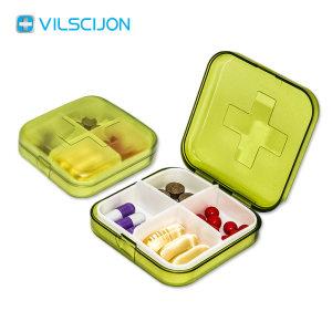维简 便携分装小药盒 婴儿奶嘴材质 四格药盒 4.6元66清仓价 买1送1发2只