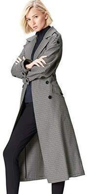 Find 女式超大格子风衣 prime含税到手约347.97元'