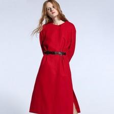 Five Plus 2HM5343090 女款纯色宽松羊毛呢大衣 299元包邮