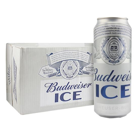 百威 冰啤酒 500ml*18听*2件 142.4元包邮
