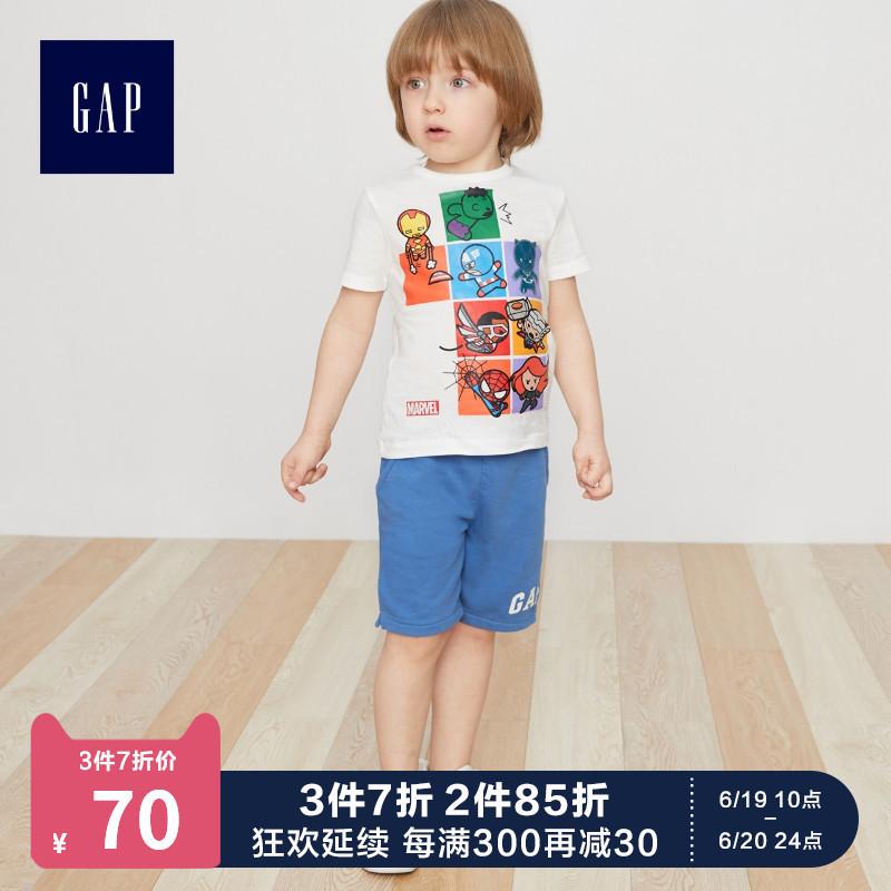 GAP 盖璞 459487 Marvel 复仇者联盟系列 儿童纯棉T恤 *3件 207.9元(合69.3元/件)