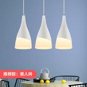 歐普照明 led吊燈餐廳燈具 客廳三頭餐吊燈飾 創意個性吧臺 129元