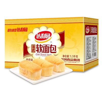 天猫超市 达利园 法式软面包礼盒装 1500g 30.9元包邮(1件9折)