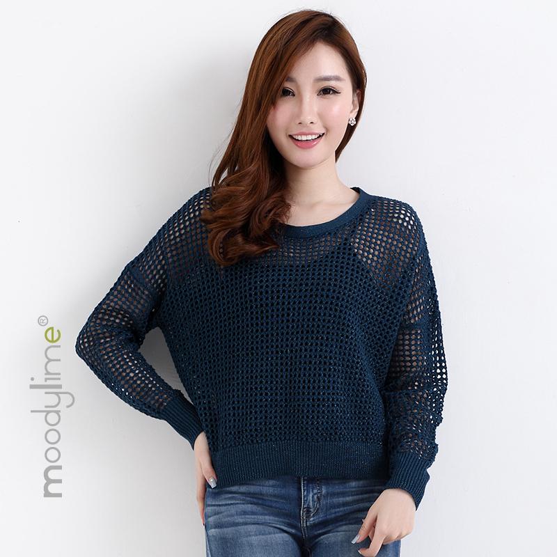 Moodylime ML-SS16-S035 女款镂空网状针织毛衣 24.55元包邮(需用券)