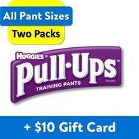 2箱$44.22起 送$10礼卡 Huggies 小童Pull-Ups训练拉拉裤热卖,男女童都有