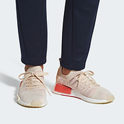 2件!adidas 阿迪达斯 NMD_R1 STLT Primeknit 女士编织透气运动鞋 65美元约¥460(天猫899元/件)'