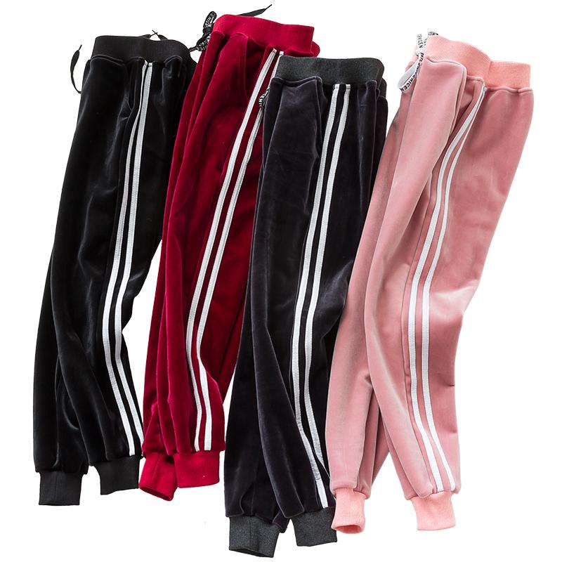 Nan ji ren 南极人 儿童金丝绒运动裤 100-160cm可选 19.8元包邮(下单立减)
