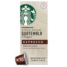 ¥298.48英国直邮!Starbucks 星巴克 危地马拉 浓缩烘焙胶囊咖啡10粒*12盒装 英