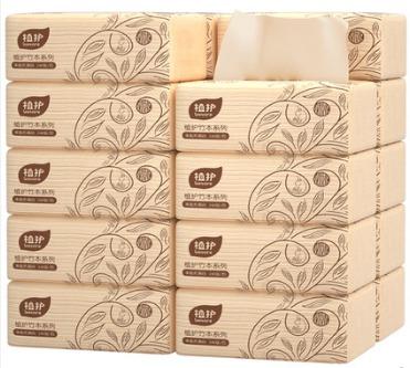 植护 本色抽纸 家庭装 4层*60抽*10包 6.9元包邮